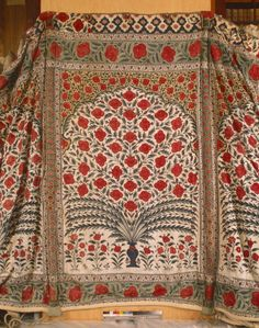 The Tipus Tent - The chintz of the Mughal dated c1725 - 1750 at Powis Castle, Powys, Wales