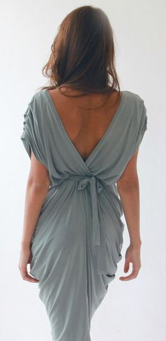 V-Back Mint Dress - great silhouette.... pretty but my butt would look HUGE