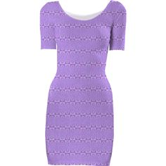 Purple Geometric Bodycon Dress from Print All Over Me