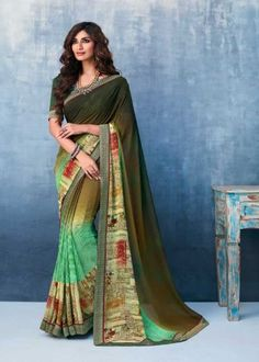 Shop this exceeding faux georgette printed saree for casual. Designer Sarees Online Shopping, Latest Designer Sarees, Drape Sarees, Georgette Sarees, Saree Sale, Party Wear Sarees Online, Indian Sarees Online, Trendy Sarees, Embroidered Clothes