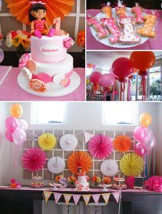 Dora the Explorer modern girl birthday party Full of Really Cute Ideas via Kara's Party Ideas Kara Allen KarasPartyIdeas.com #DoraParty #Doratheexplorer