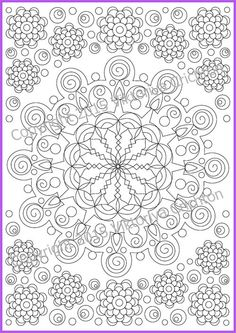Coloring Page Mandala Zendala doodle art or by ZentangleHouse