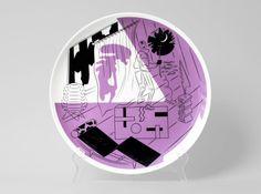 横山裕一っぽい Viktor Hachmang (XXIII) Landfill Editions, Luxury Loft (2012) , ceramics, fine china plate, 25 Ã� 25 cm