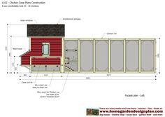 home garden plans: L102 - Chicken Coop Plans Construction - Chicken Coop Design - How To Build A Chicken Coop Chicken Coop Designs, Chicken Coop Plans, Building A Chicken Run, Architectural Shingles, Chicken Runs, Nesting Boxes, Coops, Open Up, Garden Planning