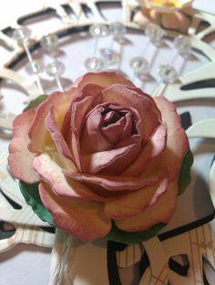 Flower Tutorial - The Peace Rose Using Spellbinders Rose Creations Die