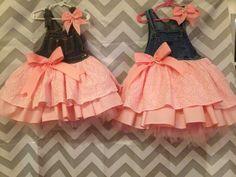 Pink overall tutu dress