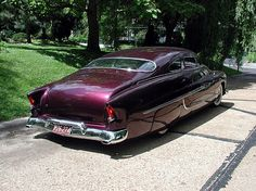 Originally chopped and customized by the Ayala Brohers. The unfinished custom was taken to Barris who detailed and fine tuned it in '55.