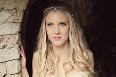 A stunning elvish, lord of the rings wedding with a boho styled bride hair do