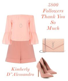 """""""Untitled #1579"""" by kimberlydalessandro ❤ liked on Polyvore featuring RED Valentino, Yves Saint Laurent and Dana Rebecca Designs"""
