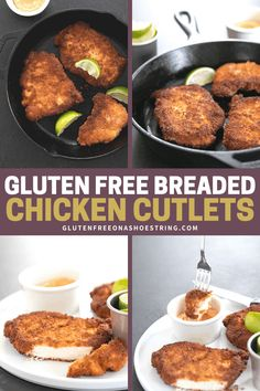 The perfect pan fried gluten free breaded chicken cutlets can be made spicy with taco seasoning or into chicken Parmesan with Italian seasoning—with a mess-free breading method.