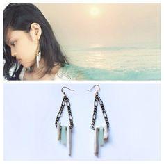 Driftwood and Seaglass Dangle Siren Earrings