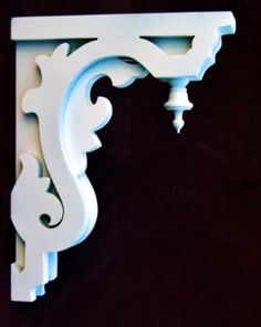 Fancy artistic Corbel porch bracket the Victorian Woodshop http://victorianwoodshop.com