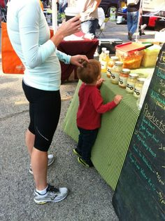 You're never too young to start shopping at the farmers market!