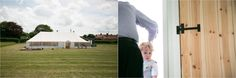 Suffolk wedding photography, marquee in field and child hiding