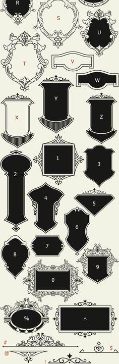 Letterhead Fonts / LHF Bergling Panels / Old Fashioned Panels