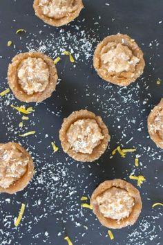 Mini lemon tarts - gluten free, vegan