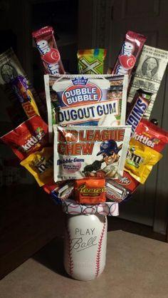 Baseball themed gift basket | Baseball | Pinterest | Themed gift ...