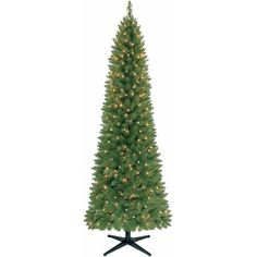 Holiday Time Pre-Lit 7' Brinkley Christmas Tree, Green, Clear Lights