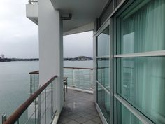 Bow Suite Balcony at the Hilton Auckland, New Zealand Auckland, Family Travel, Balcony, New Zealand, Bow, Windows, Family Trips, Arch, Longbow