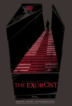 An alternative movie poster for the film The Exorcist, created by David Moscati, featured on AMP Gig Poster, Movie Poster Art, Exorcist Movie, The Exorcist 1973, Best Horror Movies, Scary Movies, Mad Movies, Horror Films, Epic Movie
