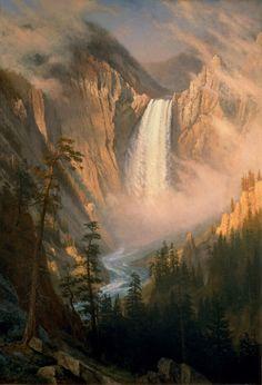 "Albert Bierstadt -""Yellowstone Falls"""