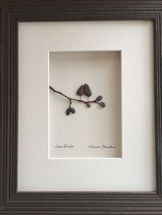 pebble art 8 by 10 by sharon nowlan love birds by PebbleArt