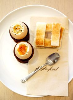 Organic boiled egg and soldiers