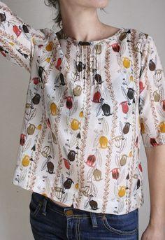 pin-tuck blouse from modaspia via etsy