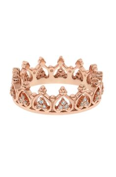 Rose Gold Crown Ring
