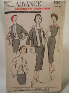 Advance American Designer Edith Head Pattern by VintageShophop, $18.00