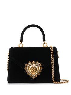Dolce & Gabbana Small Devotion Tote Bag In Black Trendy Purses, Cheap Purses, Cheap Bags, Cute Purses, Purses And Bags, Hobo Purses, Big Purses, Large Purses, Black Purses