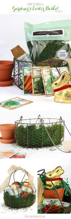 DIY Gardener's Easter Basket // Garden Themed Easter Basket Idea for Adults