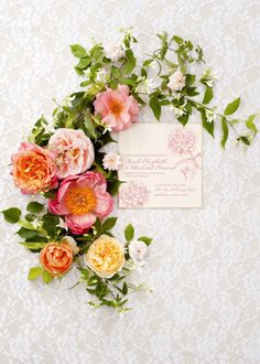 Style Me Pretty | GALLERY & INSPIRATION | flowers and invitation