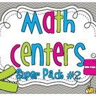Math Center SUPER PACK #2 {10 activities} Print & go activities!!$