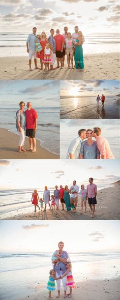 Large Family Pictures at the beach | Julie Campbell Photography Ventura California