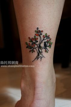 Tree Tattoo With Bird tattoo-ideas