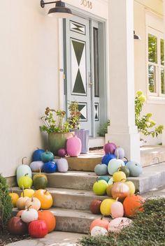 Calabazas arcoíris de bricolaje: la casa que construyó Lars
