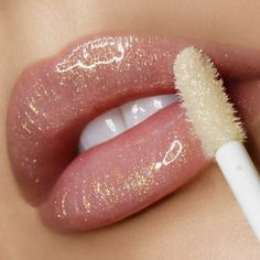 Lovely Beautiful lipstick lip make-up concepts - nude glitter lipstick . Beautiful Lipstick Lip Make-up Concept. Glitter Lipstick, Lipstick Art, Lipgloss, Lipstick Shades, Lip Art, Lipstick Colors, Lip Colors, Lipsticks, Lip Gloss Colors