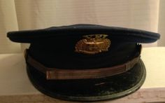 VPI Virginia Polytechnic Institute Corps of Cadets Hat with Brass Badge WWII US