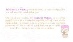 Description of Service - Invitatii de nunta personalizate, unicat