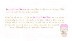 Description of Service - Invitatii de nunta personalizate, unicat