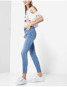 Ambitious 2019 New Spring Heavy Hot Drill High Waist Skinny Jeans Pants Student Girls Pencil Trouser Stretch Denim Pants Smoothing Circulation And Stopping Pains Women's Clothing Bottoms