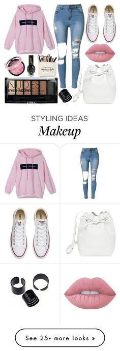 """School Day"" by susanna-trad on Polyvore featuring Converse, Mansur Gavriel, Lime Crime and Boohoo"
