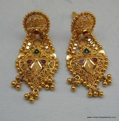 Items similar to ethnic gold earrings handmade jewelry from rajasthan india on Etsy Gold Ring Designs, Gold Earrings Designs, Gold Jewellery Design, Gold Jhumka Earrings, Gold Bridal Earrings, Gold Necklace, Earrings Handmade, Handmade Jewelry, Gold Jewelry Simple