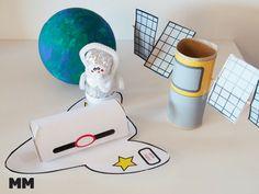 craft your space, space crafts, Statelliten basteln, Spaceshuttle basteln, craft a space shuttle, paperroll crafts, Basteln mit Klopapierrollen