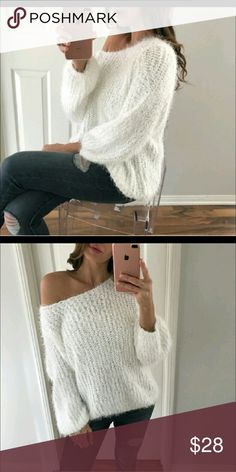 Pol brand fuzzy sweater This is a beautiful sweater but unfortunately too small in the arms for me, i got the M. This is a reposh bought originally from @mrsalliexo...these are her beautiful photos @mrsalliexo Sweaters