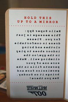 mirror message secret message - Google Search