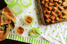 Make this simple and sweet Cinnamon'y Sweet Potato Puree by @LawyerLovesLnch #FirstBites