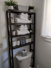 apartment bathroom Efficient Ideas For Arranging Bathroom Shelves ing Tips For Organizing 25 Chic Bathrooms, Master Bathrooms, Bathroom Design Small, Bathroom Designs, Small Bathroom Ideas, Kitchen Designs, Bathroom Interior, Parisian Bathroom, Bathroom Spa