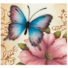 Adesivo para Decoupage Litocart LAX 10 x 10 cm - Modelo 128 - CasaDaArte Butterfly Watercolor, Butterfly Wallpaper, Butterfly Art, Butterfly Pictures To Color, Clip Art Vintage, Paris Wallpaper, Flying Flowers, Napkin Decoupage, Owl Pictures